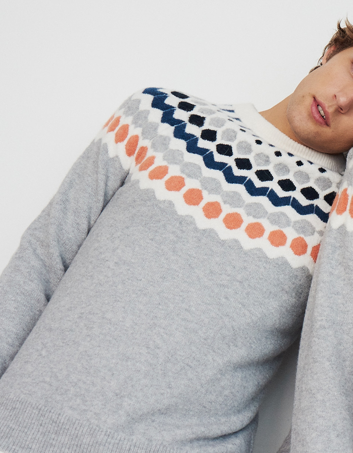 Men's and women's cashmere and fair isle sweaters