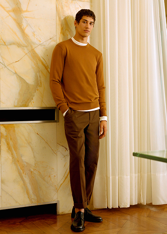 Cashmere sweaters and wool outerwear