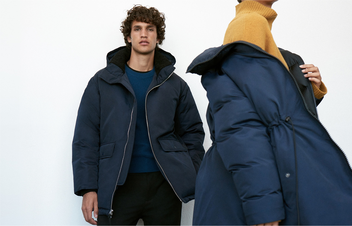 Puffer coats in new shapes and silhouettes